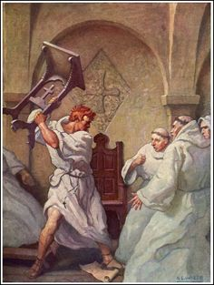 N. C. Wyeth  The White Company by A. Conan Doyle  Published by David McKay Co ~ 1922