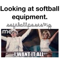 – Looking at softball equipment - Deportes Funny Softball Quotes, Softball Cheers, Softball Pictures, Softball Players, Girls Softball, Fastpitch Softball, Softball Things, Softball Stuff, Softball Clothes