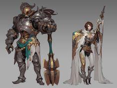 ArtStation - Shoot and crash, Gouf Gouf Fantasy Heroes, Fantasy Male, Fantasy Armor, Fantasy Characters, Game Character Design, Character Design References, Character Concept, Character Art, Armor Concept