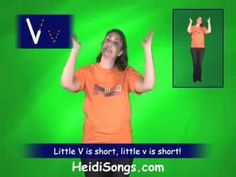 V song - Singable Songs for Letters & Sounds (+playlist) Preschool Songs, Preschool Letters, Letter Activities, Class Activities, Alphabet Video, Alphabet Songs, Alphabet Letters, Letter Sound Song, Letter Sounds