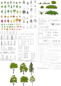 December Download Bundle from First In Architecture Landscape Diagram, Landscape Design, Architecture Presentation Board, Architecture Details, Autocad Trees, Inkscape Tutorials, Elevation Drawing, Tree Plan, Graphic Design Brochure
