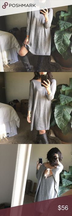 """CLUB MONACO/ bow sweater dress FULL DESCRIPTIONS WILL BE UPDATED ✨TONIGHT✨  I'll be out and about all day, but I'm happy to try and answer any questions! Just ~PLEASE~ check out my """"About This Closet"""" listing for my sizing info before you ask size questions. 💕   No trades or holds. xx Club Monaco Dresses"""