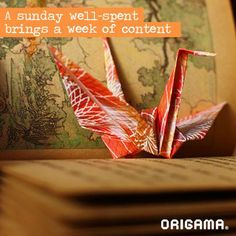 A sunday weel-spent brings a week of content