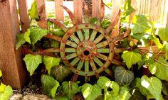 Rusty Metal Garden Art