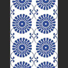 Papiers peints Winchester Paisley - Navy Blanc, Bleu   Color ...