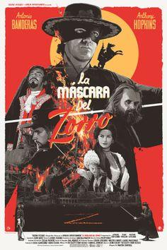 Grzegorz Domaradzki ilustrações cartazes pôsteres filmes arte cinema The Mask of Zorro (A Máscara do Zorro) Action Movie Poster, Movie Poster Art, Action Movies, Mulholland Drive, Tarzan, A Mascara Do Zorro, New Movies, Good Movies, Indie Movies