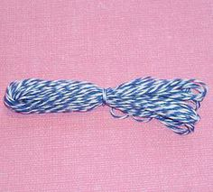 Mid Blue Bakers Twine #craft #crafting #ideas #crafty #bakers #inspiration  www.ninefruitspie.co.uk