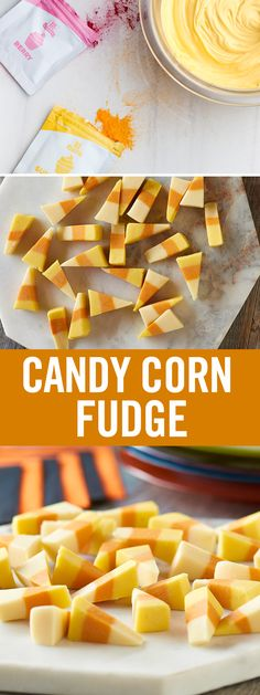 How can you make candy corn even better? By turning it into a fun Halloween dessert! Chop up white baking chocolate and mix with sweetened condensed milk. Once melted together, stir in Vanilla Extract. Divide into thirds and tint with our natural Food Colors for beautiful candy corn hues with no artificial dyes. This vanilla fudge recipe will be a major hit at this year's Halloween party.
