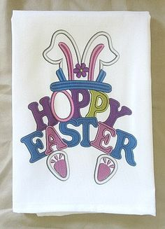 Easter Bunny Handtowel - Easter Towel - New Orleans Handtowel - Easter Gift - Kitchen Towel - New Home Gift - Easter Decoration - Hand Towel by SerenityoftheSouth on Etsy #Easter #handtowel #Spring #gift #Easterbunny