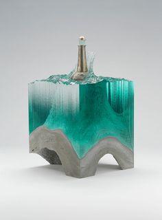 Recreando El Mar En Esculturas Con Láminas De Vidrio