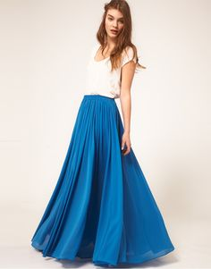 Maxi Skirt with Broderie Inserts