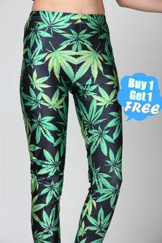 Marijuana Leggings pot leaf weed leggingsMarijuana by velvetcoc, $18.80