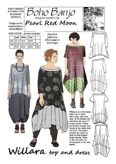 Amazing Sewing Patterns Clone Your Clothes Ideas. Enchanting Sewing Patterns Clone Your Clothes Ideas. Pdf Sewing Patterns, Clothing Patterns, Dress Patterns, Pattern Dress, Vest Pattern, Estilo Hippie, Look Boho, Creation Couture, Loose Fitting Tops