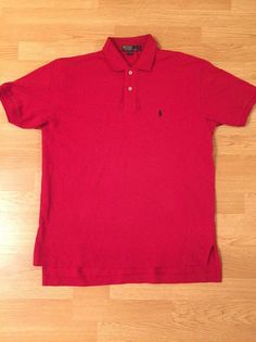 polo by ralph lauren size L red