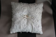 Beautiful hand made ivory Dupioni silk and floral by ThreadedBlizz