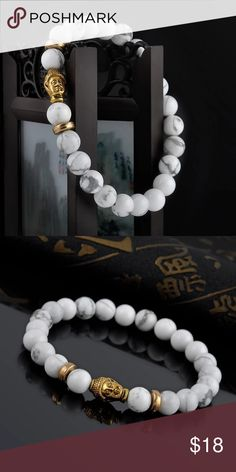 Beautiful ! New ! Buddha Bracelet ! Really a beautiful design ! It stretches! Natural stone, available in all colors as shown in pictures. Just select which you want ! ;) Jewelry Bracelets #jewelrybracelets