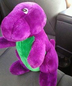 Barney Beanbag Toy Barneys Dinosaur Barney Doll By LauraTrev - Barney and friends backyard gang doll