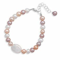 Childs Natural Color Pearl Bracelet Sterling Silver - Made in the USA AzureBella Jewelry. $22.42. Jewelry gift box included. Adjustable length. .925 sterling silver. Natural color pearls