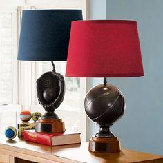 Baseball or basketball lamp