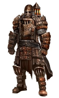 View an image titled 'Heavy Armor Art' in our Guild Wars 2 art gallery featuring official character designs, concept art, and promo pictures. Fantasy Armor, Dark Fantasy, Fantasy Male, Fantasy Weapons, Medieval Fantasy, Bioshock, Armadura Steampunk, Character Concept, Character Art