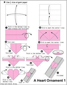 Origami Heart Present Box