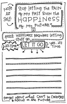 """Long story short, happiness requires letting things go."" - FREE printable - 2 lists per 8x11 sheet of paper."