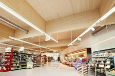 Climate Protection Supermarket, Graz, 2011 - LOVE Architecture and urbanism Environmental Architecture, Sustainable Architecture, Architecture Photo, Rose House, Lighting Solutions, Trends, Retail Design, Interiores Design, Supermarket Sweep