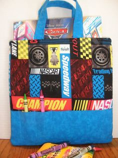 NASCAR Crayon Tote by NotWithoutAnnette on Etsy