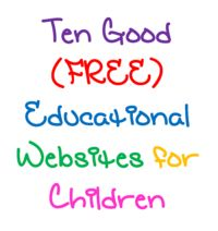 Apps are great, and so are websites. Check out these free educational sites for your kids!