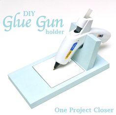 Pinterest Inspired Glue Gun Holder :: I Made One For Me And One For You (enter…
