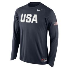 USA Basketball Nike Shooter Long Sleeve T-Shirt - Navy