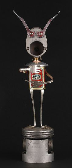 Slade - Found Object Robot Assemblage Sculpture By Brian Marshall