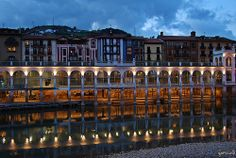 Basque Country, Gipuzkoa, Tolosa at night