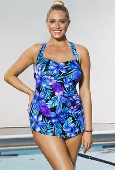 b3b4b6c2ec2f1 Aquabelle Marina Sarong Front Plus Size Swimsuit Swimsuits For All, One  Piece Swimwear, One