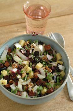 Une salade hivernale grandement appréciée pendant mon enfance revisitée une nouvelle fois