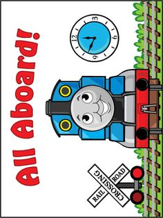 Thomas the Tank Engine Printable Coloring Pages and Invitations Thomas Birthday Parties, Thomas The Train Birthday Party, Trains Birthday Party, Train Party Decorations, Party Themes, Party Ideas, Theme Ideas, Friend Birthday, 3rd Birthday