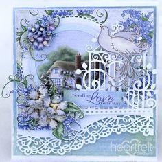 Blue Enchantment -   #HeartfeltCreations #cardmaking #papercraft #lilacs #scrapbooking #spring #friendship #anyoccasion #lovenote #thinkingofyou #Mother'sDay