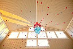 red and aqua decor inspiration