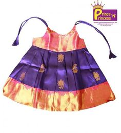 Shop online for your kids, princenprincessis an best choice of pattu pavadai for baby, kids party wear, children western wear and best traditional wear for babies in coimbatore Baby Girl Frocks, Frocks For Girls, Dresses Kids Girl, Baby Dresses, Kids Outfits, Kids Dress Wear, Kids Gown, Baby Girl Fashion, Kids Fashion