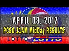 PCSO MidDay- 11AM Results April 09, 2017 (SWERTRES & EZ2) - http://LIFEWAYSVILLAGE.COM/lottery-lotto/pcso-midday-11am-results-april-09-2017-swertres-ez2/