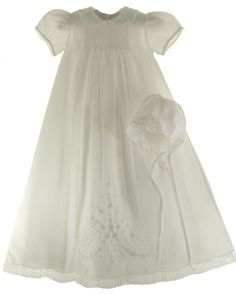 Hiccups Childrens Boutique - Infant Girls White Christening Baptism Gown - Feltman Brothers, $99.00 (http://www.hiccupschildrensboutique.com/infant-girls-white-christening-baptism-gown-feltman-brothers/)