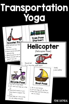 transportation yoga  transportation theme preschool yoga