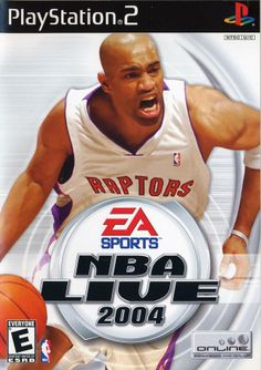 NBA Live 2004 [PlayStation 2] - On the cover - Vince Carter, Toronto