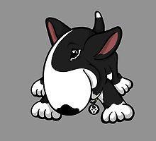 Let's Play English Bull Terrier Black by Sookiesooker