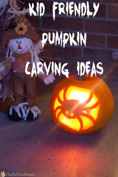 Kid Friendly Pumpkin Carving Ideas and Tips via @clarkscondensed