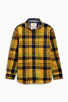 Buy Yellow/Navy Long Sleeve Check Shirt (3-16yrs) online today at Next: United States of America