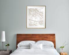 Modern tree print office art print 8X10 etsy by DaphnaPrintables
