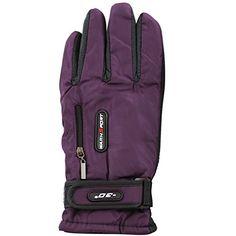 The Hat Depot Women's Insulated Extra Warm Fleece linined Winter Gloves (Purple)