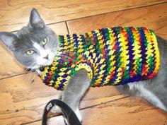 Gratis haak patronen voor honden en kattenjasjes!