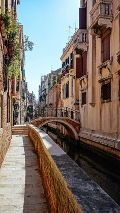 One of the best ways to have an authentic experience in Venice is to spend the night. If you can't, take a water taxi to Piazza San Marco and walk back. Wander the streets of Venice and enjoy the colors, bridges, and more in this beautiful Italian city. #italy #venice #travel #localtravel #authnetic